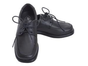 Angel Black Lace Up Oxford Rubber Sole Christening Shoe Toddler Boy 10