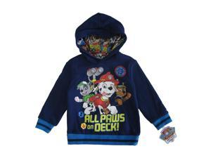 Nickelodeon Little Boys Navy Paw Patrol Print Long Sleeve Hooded Sweater 5T