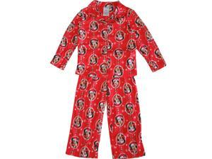 Disney Little Girls Red Minnie Mouse Christmas Print 2 Pc Pajama Set 6