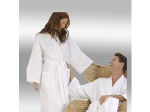 Hunter Green Waffle Weave Bathrobe - Full Length 54 Inches 100% Cotton