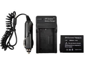 GPK Systems Battery & Charger for Panasonic Dmw-blc12, Dmw-blc12pp, Dmw-blc12e, De-a79b Panasonic Lumix Dmc-fz200, Dmc-g5, Dmc-gh2 Battery Digital Camera Li-ion Rechargeable Battery