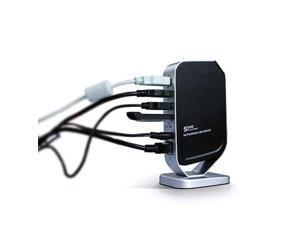 New 4 Port Networking USB 2.0 Print Server M4 Printer Share 4 USB HUB Devices 100Mbps Network Print Server