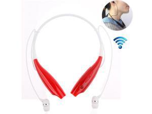 Sport Neckband Headset In-ear Wireless Headphones Bluetooth Stereo Earphone Headsets, TM-730(Red)