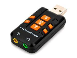 USB 2.0 Analog 8.1 Channel Audio Sound Adapter Support Window 98SE ME 2000 XP 2003 Vista Linux Mac OS