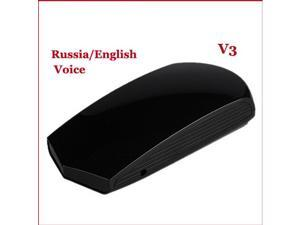360 Degree V3 Detection Voice Alert Car Radar Laser Detector Support Russia / English Voice for Car Speed Support X K KU KA