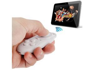 4 in 1 Bluetooth Gamepad Selfie Shutter Remote For iPhone iPad with Retina Display Samsung PC TV Box, MID - White