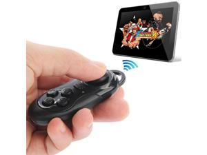 4 in 1 Bluetooth Gamepad Selfie Shutter Remote For iPhone iPad with Retina Display Samsung PC TV Box, MID - Black