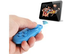 4 in 1 Bluetooth Gamepad Selfie Shutter Remote For iPhone iPad with Retina Display Samsung PC TV Box, MID - Blue