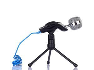 Professional Condenser Microphone Mic w/ Stand For PC Laptop Skype MSN Singing