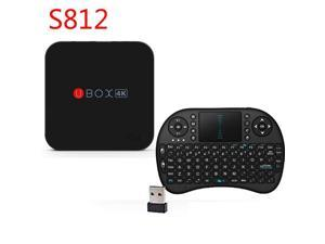 UBOX 4K S812 XBMC Android TV Box Amlogic S812 2GB/8GB UHD H.265 Recording RII i8 Airmouse QWERTY Keyboard Bundle Kit 2.4G