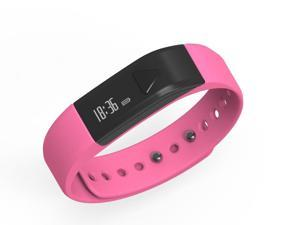 I5 Bluetooth 4.0 IP65 Smart Wristband with Sleep Monitor for Android iOS - Pink