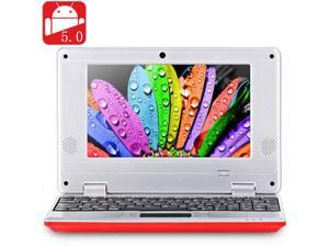 NEW 2016 7 inch 789 PC MID Android 5.0 Notebook WM8880 Dual Core 1.5GHz WVGA Screen 8GB ROM Camera WiFi Ethernet HDMI - Red
