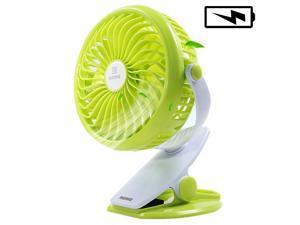 REMAX Mini Fan USB Rechargeable 2200mAh 18650 Lithium Battery Fan 4 Blades Clip on Desk Fan Silent 4.5h Blower