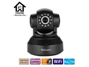 Sricam SP012 WIFI HD 720P Indoor Pan/Tilt Onvif Night Vision Infrared IP Camera Support Motion Detection Two way audio TF Card - Black