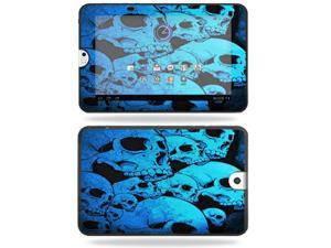Mightyskins Protective Vinyl Skin Decal Cover for Toshiba Thrive 10.1 Android Tablet wrap sticker skins Blue Skulls