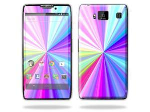 Mightyskins Protective Vinyl Skin Decal Cover for Motorola Droid Razr Maxx Android Smart Cell Phone wrap sticker skins - Rainbow Zoom