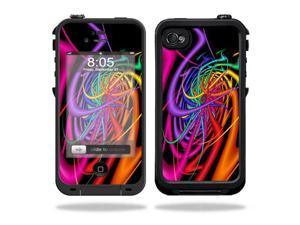 Mightyskins Protective Vinyl Skin Decal Cover for LifeProof iPhone 4 / 4S Case wrap sticker skins Color Invasion