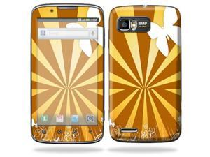 MightySkins Protective Skin Decal Cover for Motorola Atrix 2 II (version 2) Cell Phone Sticker Brown Butterfly