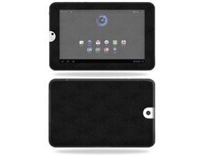 Mightyskins Protective Vinyl Skin Decal Cover for Toshiba Thrive 10.1 Android Tablet wrap sticker skins Black Leather