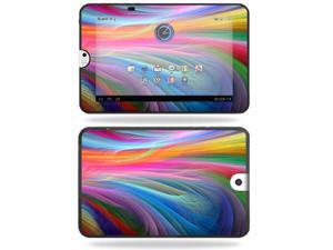 Mightyskins Protective Vinyl Skin Decal Cover for Toshiba Thrive 10.1 Android Tablet wrap sticker skins  -Rainbow Waves
