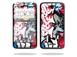 Mightyskins Protective Skin Decal Cover for HTC One X+ Plus Cell Phone AT&T wrap sticker skins Graffiti Mash Up