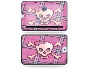 Mightyskins Protective Vinyl Skin Decal Cover for Toshiba Thrive 10.1 Android Tablet wrap sticker skins Pink Bow Skull