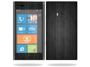 Mightyskins Protective Vinyl Skin Decal Cover for Nokia Lumia 900 4G Windows Phone AT&T Cell Phone wrap sticker skins Black Wood