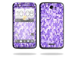 Mightyskins Protective Skin Decal Cover for HTC One X+ Plus Cell Phone AT&T wrap sticker skins Stained Glass