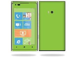 Mightyskins Protective Vinyl Skin Decal Cover for Nokia Lumia 900 4G Windows Phone AT&T Cell Phone wrap sticker skins Glossy Green