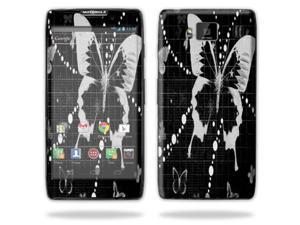 Mightyskins Protective Vinyl Skin Decal Cover for Motorola Droid Razr Maxx Android Smart Cell Phone wrap sticker skins - Black Butterfly