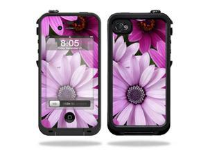 Mightyskins Protective Vinyl Skin Decal Cover for LifeProof iPhone 4 / 4S Case wrap sticker skins Purple Flowers