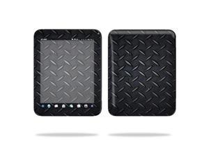 """Mightyskins Protective Vinyl Skin Decal Cover for HP TouchPad 9.7 """" Inch WiFi 16GB 32GB tablet wrap sticker skins Black Dia Plate"""