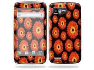 Mightyskins Protective Skin Decal Cover for Motorola Atrix 2 II (version 2) Cell Phone Sticker Orange Flowers