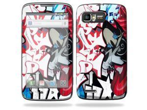Mightyskins Protective Skin Decal Cover for Motorola Atrix 2 II (version 2) Cell Phone Sticker Graffiti Mash Up