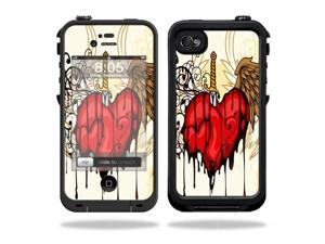 Mightyskins Protective Vinyl Skin Decal Cover for LifeProof iPhone 4 / 4S Case wrap sticker skins Stabbing Heart
