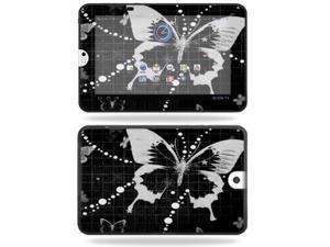 Mightyskins Protective Vinyl Skin Decal Cover for Toshiba Thrive 10.1 Android Tablet wrap sticker skins Black Butterfly