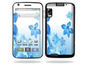 MightySkins Protective Vinyl Skin Decal Cover for Motorola Atrix 4G Cell Phone Sticker Skins  - Blue Flowers