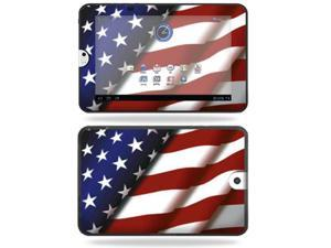 Mightyskins Protective Vinyl Skin Decal Cover for Toshiba Thrive 10.1 Android Tablet wrap sticker skins American Pride