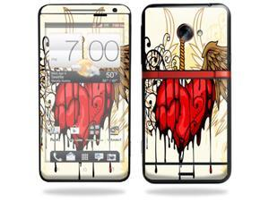 Mightyskins Protective Vinyl Skin Decal Cover for HTC Evo 4G LTE Sprint Cell Phone wrap sticker skins Stabbing Heart