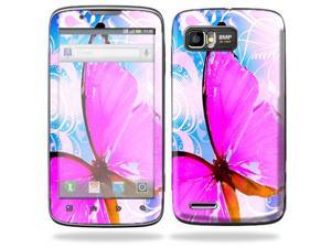 Mightyskins Protective Skin Decal Cover for Motorola Atrix 2 II (version 2) Cell Phone Sticker Pink Butterfly