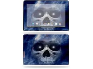 "Mightyskins Protective Skin Decal Cover for Asus Transformer Infinity TF700 Tablet with 10.1"" screen wrap sticker skins Haunted Skull"