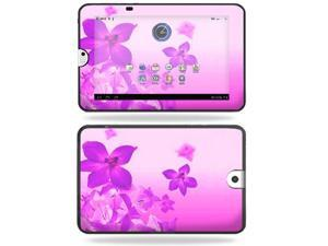 Mightyskins Protective Vinyl Skin Decal Cover for Toshiba Thrive 10.1 Android Tablet wrap sticker skins Pink Flowers