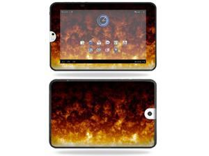 Mightyskins Protective Vinyl Skin Decal Cover for Toshiba Thrive 10.1 Android Tablet wrap sticker skins Firestorm