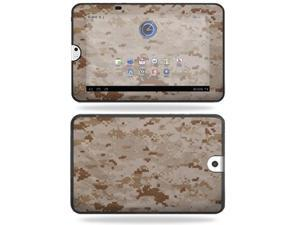 Mightyskins Protective Vinyl Skin Decal Cover for Toshiba Thrive 10.1 Android Tablet wrap sticker skins Desert Camo