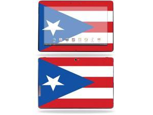 "Mightyskins Protective Skin Decal Cover for Asus Transformer Infinity TF700 Tablet with 10.1"" screen wrap sticker skins Puerto Rican Flag"
