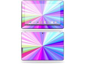 "Mightyskins Protective Skin Decal Cover for Asus Transformer Infinity TF700 Tablet with 10.1"" screen wrap sticker skins Rainbow Zoom"