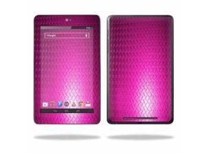 """Mightyskins Protective Skin Decal Cover for Asus Google Nexus 7 Tablet with 7"""" screen wrap sticker skins Pink Diamond Plate"""