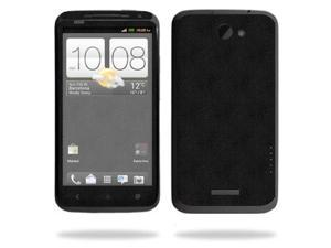 Mightyskins Protective Skin Decal Cover for HTC One X+ Plus Cell Phone AT&T wrap sticker skins Black Leather