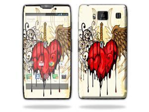 Mightyskins Protective Vinyl Skin Decal Cover for Motorola Droid Razr Maxx Android Smart Cell Phone wrap sticker skins - Stabbing Heart