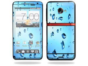 Mightyskins Protective Vinyl Skin Decal Cover for HTC Evo 4G LTE Sprint Cell Phone wrap sticker skins Water Droplets